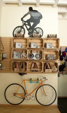 yellow gold fixie bike lether saddle interior storage design