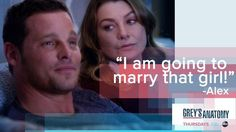 """I'm going to marry that girl!"" Alex Karev to Meredith Grey about Jo Wilson, Grey's Anatomy quotes"