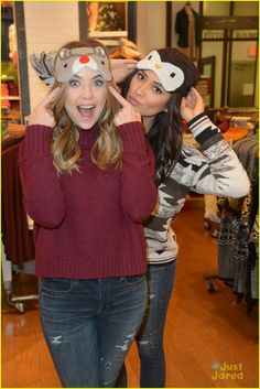 Shay Mitchell & Ashley Benson Have Holiday Shopping Spree At American Eagle Outfitters: Photo #903777. Shay Mitchell and Ashley Benson get close together for a fun selfie during their holiday shopping excursion at American Eagle Outfitters in Hollywood on Tuesday…