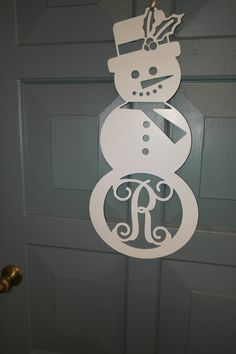 Hey, I found this really awesome Etsy listing at https://www.etsy.com/listing/213527941/tall-metal-monogram-snowman-or-snow