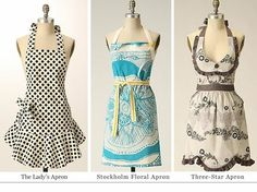 DIY Aprons I luv aprons they are just so cute !!!