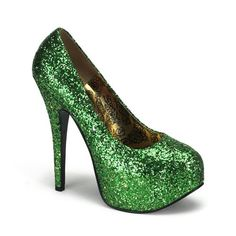 Bordello by Pleaser High Heels Pumps TEEZE-06 Silber Glitzer - http://on-line-kaufen.de/bordello-2/bordello-by-pleaser-high-heels-pumps-teeze-06
