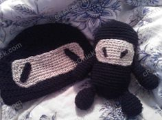 Chibi Ninja Beanie Hat Crochet Pattern : cRAfterChick - Free Crochet Patterns and Projects