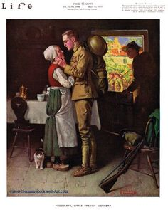 Goodbye Little French Mother by Norman Rockwell (1918)