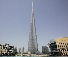 The needle-shaped skyscraper stands at 828metres tall and can be seen from 60miles away #bridge #buildings #skyscraper