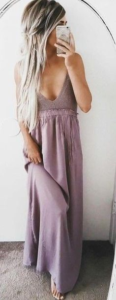 #summer #warmweather #outfitideas |  Lavender Sway Maxi Dress
