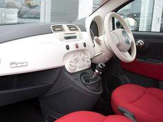 This #Fiat #500 interior is so pretty.