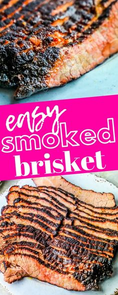 The Best Easy Smoked Brisket Recipe - Sweet Cs Designs - New Ideas Easy Brisket Recipe, Beef Brisket Recipes, Traeger Recipes, Grilling Recipes, Best Smoked Brisket Recipe, Pork Recipes, Smoked Ribs, Pellet Smoker Brisket Recipe, Game Recipes