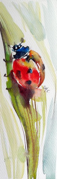 Kovacs Anna Brigitta WATERCOLOR lady beetle