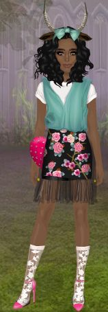 CuteRockybalboa #Stardoll #Outfit #floral #deer