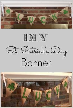 DIY St. Patrick's Day Banner #StPatricksDay