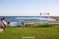 Love this venue for a ceremony in Cabo: the Imperial Suite at the Fiesta Americana.  You can enjoy there the view of the Ocean without having your feet in the sand like Katie and Lorinda did for their wedding celebration!  Credit photography: www.pinkpalmphoto.com