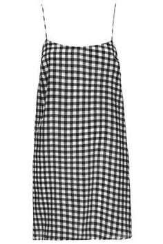Gingham Strappy Slip Dress by Boutique