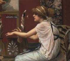 Erato at Her Lyre  John William Godward
