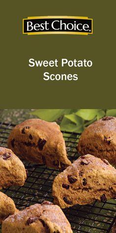 Scones are a versatile breakfast or dessert to enjoy.  This Sweet Potato Scone features sweet potato and raisins.