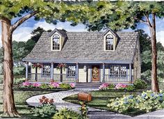 House Plan 79510   Cape Cod Cottage Country Traditional Vacation Plan with 1040 Sq. Ft., 3 Bedrooms, 2 Bathrooms at family home plans