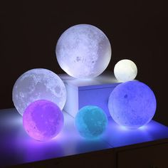 RGBW mixing color changing LED glow ball light is the best Christmas and New Year Gifts for children, friends, relatives. Color changing glow LED ball light has multiple lighting effect which create different atmosphere. Room Ideas Bedroom, Bedroom Decor, Galaxy Bedroom Ideas, Neon Bedroom, Bedroom Wall, Vintage Moon, Aesthetic Rooms, House Doctor, Led Night Light