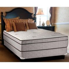 Continental Sleep Fifth Ave Collection 13 inch Fully Assembled Foam Encased Soft Eurotop Orthopedic Mattress Set with 5 inch Box-Spring, Multiple Sizes, White