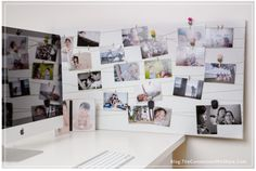 How to display photos easily and cheap by Amy Lee via Click it Up a Notch