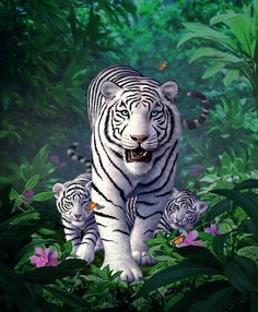 White Tigers by Jerry LoFaro | Creatures | 2D | CGSociety