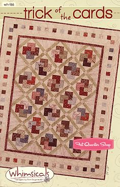 Trick of the Cards Quilt Pattern Terri Degenkolb for Whimsicals