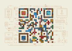 QR codes ilustrados by Am I Collective   Comunicadores