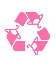 logo for a second hand clothing store, I love everything about this logo! Love the idea behind the recycle image turned into clothing hangers and dresses. Designed very well