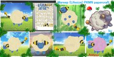 Mareep papercraft commission by Antyyy.deviantart.com on @DeviantArt