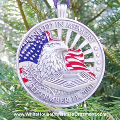 United In Memory September Ornament - Commemorative Ornaments - White House Christmas Ornament - White House, U. White House Ornaments, White House Christmas Ornament, Hand Cast, It Cast, House Trees, When We Get Married, Memorial Ornaments, Survival Quotes, September 11