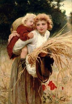Her Constant Care-Frederick Morgan (1847 – 1927, English)