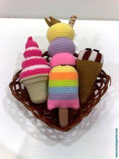 Crochet Ice Cream | Flickr: Intercambio de fotos