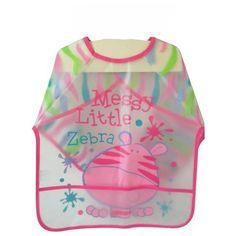 Long Sleeve Waterproof Bib with Food Catching Pocket for Baby and Toddler
