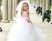 Flower Girl Tutu Dress for Baby to Toddler in Moss  Perfect for Portraits, Pageants and Weddings. $81.00, via Etsy.