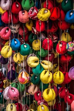 Hanging ornaments of Japanese temple