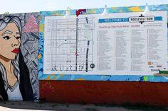 Roosevelt Row street art map
