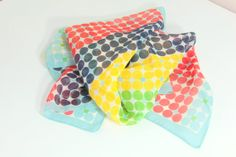 Vintage 60'sMod Polka Dot Scarf Made in by foundundertheeaves, $16.00