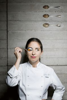 """Elena Arzak...anyone up for a short trip to Spain?  We could """"Basque"""" in the glow of this amazing restaurant!"""
