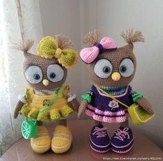 """Вязаная игрушка """"Совушка в платьице"""" » Женский Мир"""