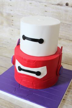 www.facebook.com/nyocakes www.nyocakes.com serving the Cedar Park, TX Austin Tx and surrounding area's Baymax 2.0 birthday cake for Adam - Cake by Not Your Ordinary Cakes