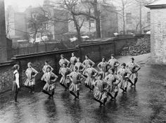 Newly enlisted WRAFs on initial stage of their training routine - Physical Training exercise, Uxbridge.