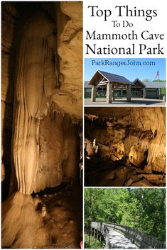 Things to do Mammoth Cave National Park in Kentucky USA. This bucket list destination with pictures has hiking, camping, canoeing on the Green and Nolin Rivers and many other adventures for the whole family. #mammothcave #nationalpark #Nps #findyourpark #kentucky #cave #travel #MammothCaveNP via @ParkRangerJohn