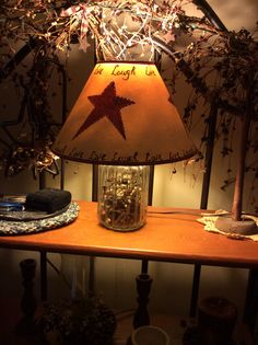 Primitive lampscountry lampspunched tin lamp shadesrusty star nice shade for my two black shade less lamps mozeypictures Images