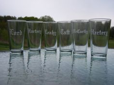 7 Groomsmen Etched pint glass beer glass mug by WaterfallDesigns, $70.00