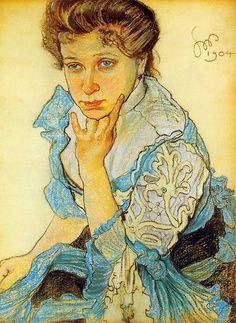 "fleurdulys: ""Portrait of Leonowa Sternbachowa - Stanislaw Wyspianski 1904 "" Art Nouveau, Post Impressionism, Impressionist, European Paintings, Russian Art, Paintings For Sale, Female Art, Painting & Drawing, Printmaking"