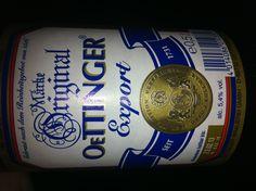 Oettinger, la cerveza más barata que encontramos en Alemania. Pero no estaba mal para el precio.