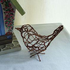 More wire sculpture birds