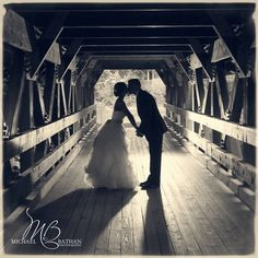 Wedding pictures, wedding photography ideas. Bridge at lake george