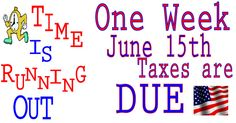 American Expat Taxes are due in 1 week, June 15th  #taxes #expats #americansabroad #USTaxAbroad #tax #expatriate    http://www.expatriatetaxreturns.com/