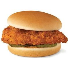 Chick-Fil-A Chicken Sandwich3 cups Peanut oil 1 Egg 1 cup Milk 1 cup Flour 2 1/2 tb Powdered sugar 1/2 ts Pepper 2 tb Salt 2 Skinless, boneless chicken breasts, halved  4 Plain hamburger buns 2 tb Melted butter 8 Dill pickle slices
