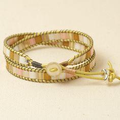 Sweet Honey Mosaic Wrap Bracelet    by: Brittany Ketcham